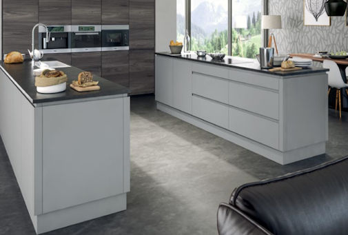 Matt Light Grey Handleless Kitchen Doors Light Grey Handleless - Light grey kitchen doors